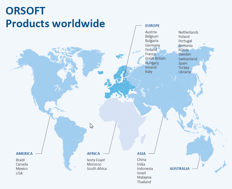 ORSOFT References worldwide